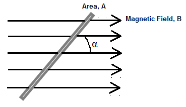 Magnetic Flux at an angle
