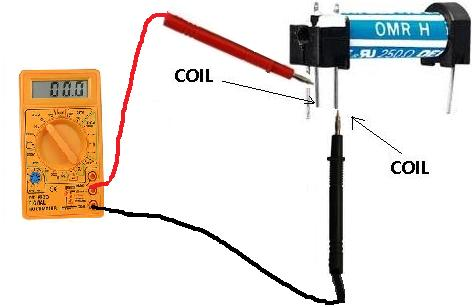 How to measure relay coil resistance