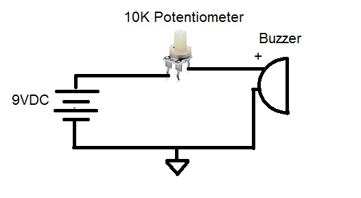 adjustable potentiometer circuit