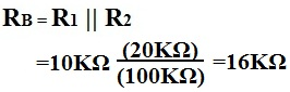 Calculation of Rb of a transistor