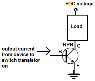 how to connect a transistor as a switch in a circuit rh learningaboutelectronics com Transistor Switch Circuit Diagram NPN Transistor as Switch